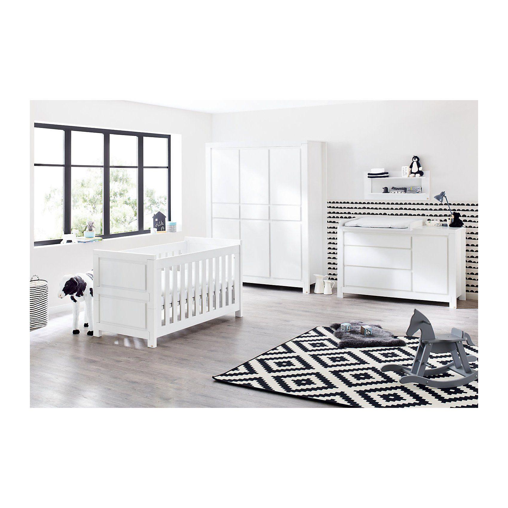 Pinolino Komplett Kinderzimmer MILK, 3-tlg. (Kinderbett, extrabreiter