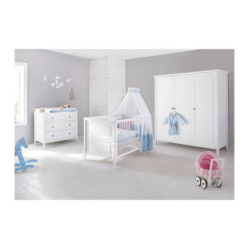 pinolino komplett kinderzimmer smilla 3 tlg kinderbett wickelkomm online kaufen otto. Black Bedroom Furniture Sets. Home Design Ideas