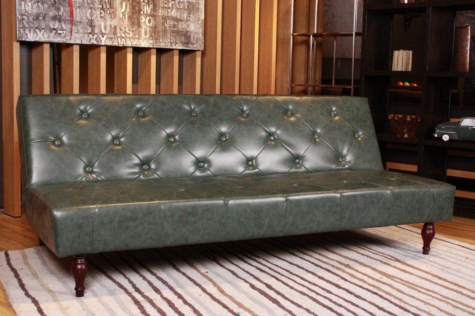 kasper wohndesign sofa schlafsofa kunstleder versch farben vintage online kaufen otto. Black Bedroom Furniture Sets. Home Design Ideas