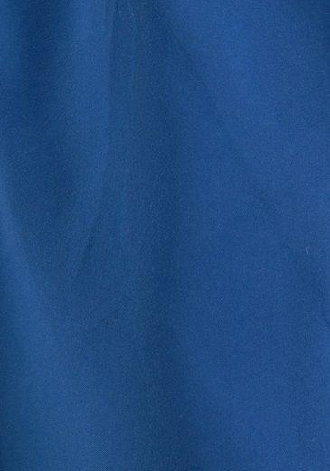 s.Oliver RED LABEL Beachwear Badeshorts mit Logo-Print im Used-Look