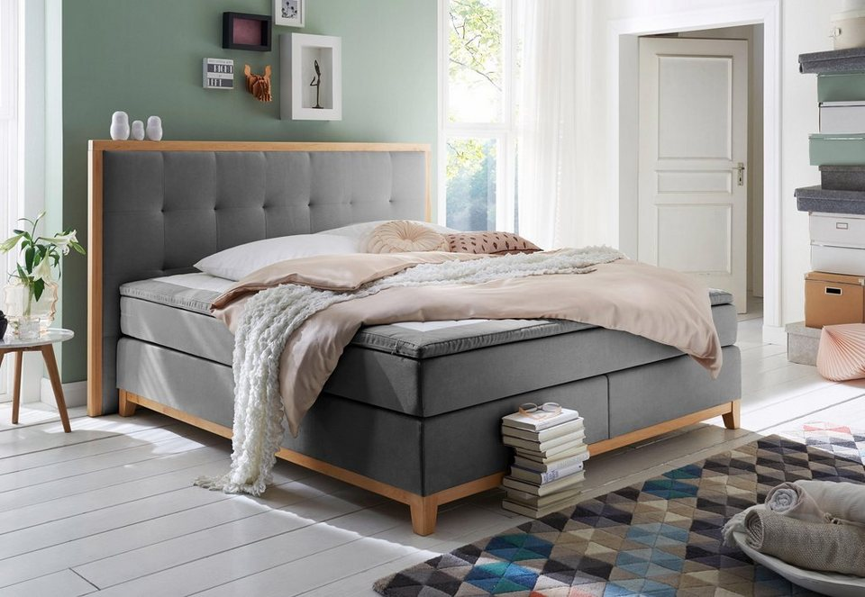 Home Affaire Boxspringbett Sonja In 2 Breiten Inkl Topper