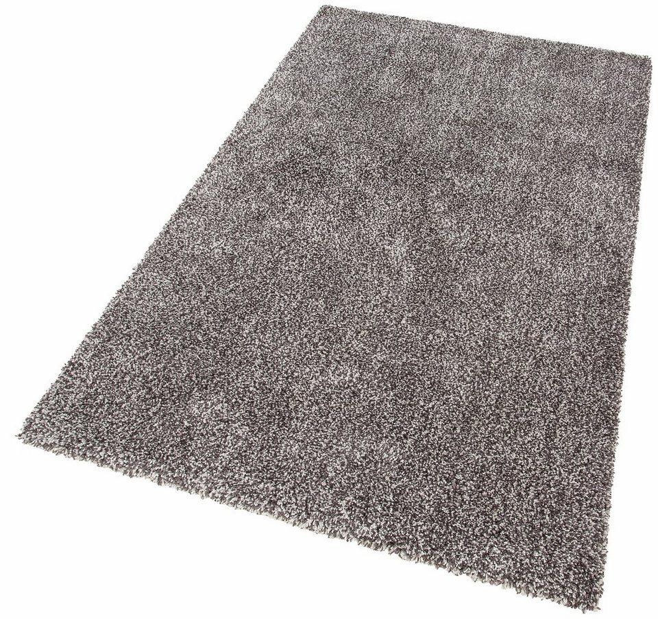 Teppich hellgrau  Hochflor-Teppich, GMK Home & Living, »Rom«, Höhe 40 mm, gewebt ...