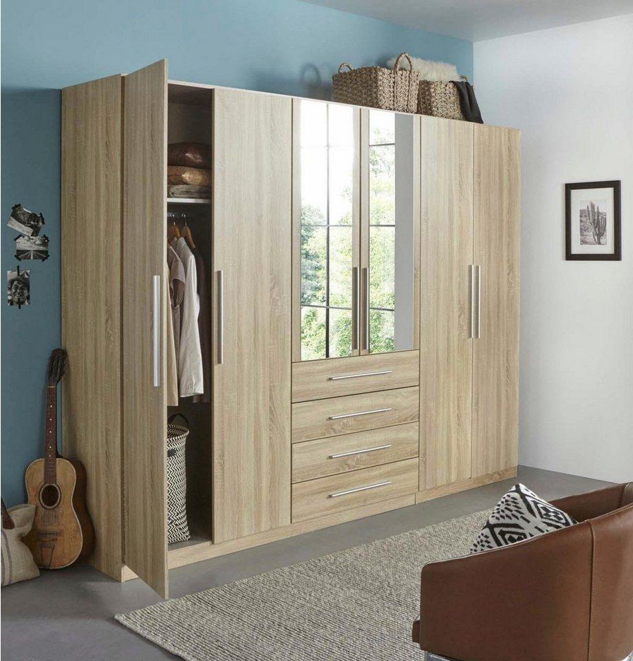 rauch pack s kleiderschrank mit spiegel und schubk sten online kaufen otto. Black Bedroom Furniture Sets. Home Design Ideas