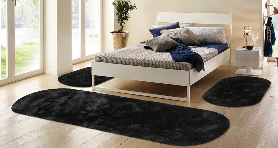 hochflor bettumrandung 3tlg bruno banani dana h he 30 mm getuftet online kaufen otto. Black Bedroom Furniture Sets. Home Design Ideas