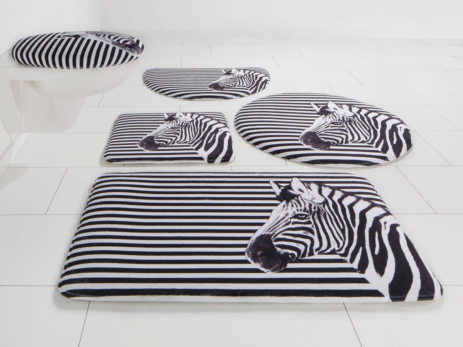 Badematte, Bruno Banani, »Zebra«, Höhe 14 mm