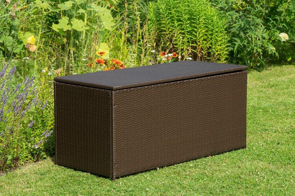 auflagenbox rattan 124x56x60 cm polyrattan braun online kaufen otto. Black Bedroom Furniture Sets. Home Design Ideas