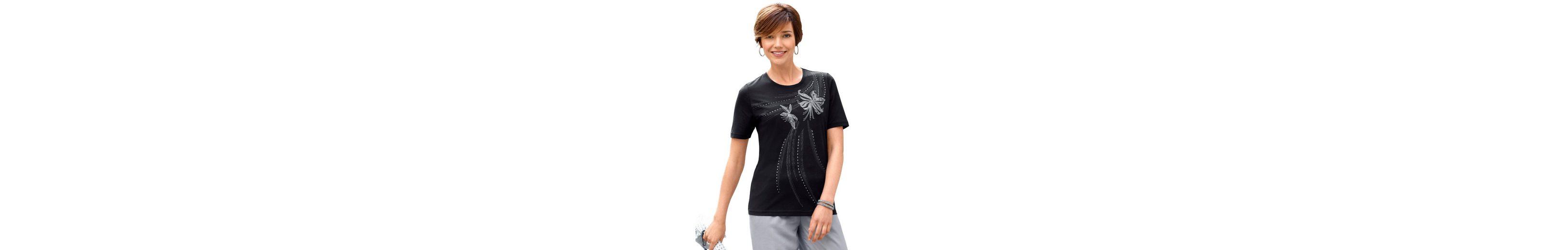 Classic Basics Shirt mit platziertem Printmotiv Größte Anbieter Günstiger Preis Vx1i7