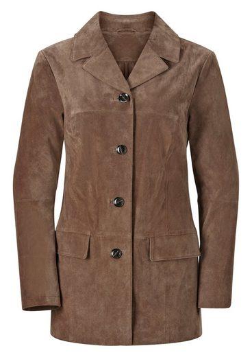Mainpol Leder-Jacke mit Reverskragen