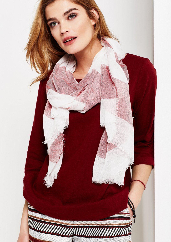 COMMA Hauchzarter Schal mit Streifenmuster