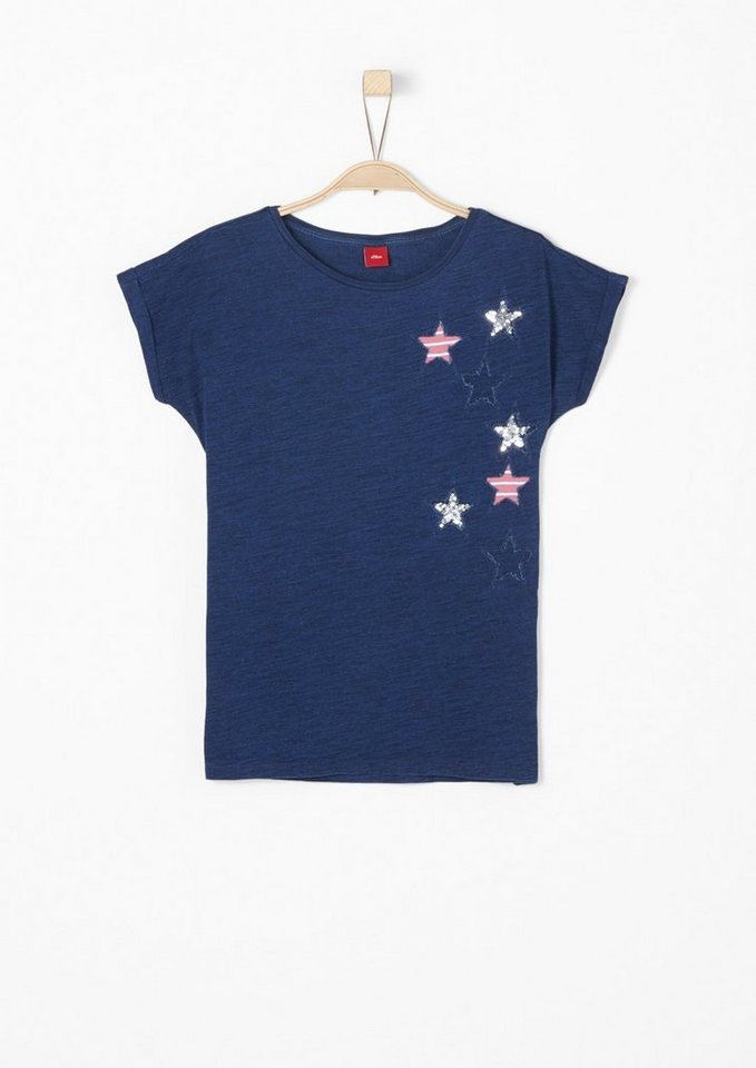 s oliver red label junior t shirt mit applikationen f r. Black Bedroom Furniture Sets. Home Design Ideas