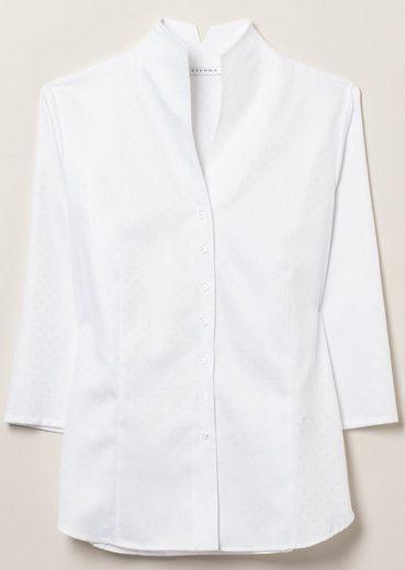 ETERNA 3/4-Arm Bluse COMFORT FIT unifarben