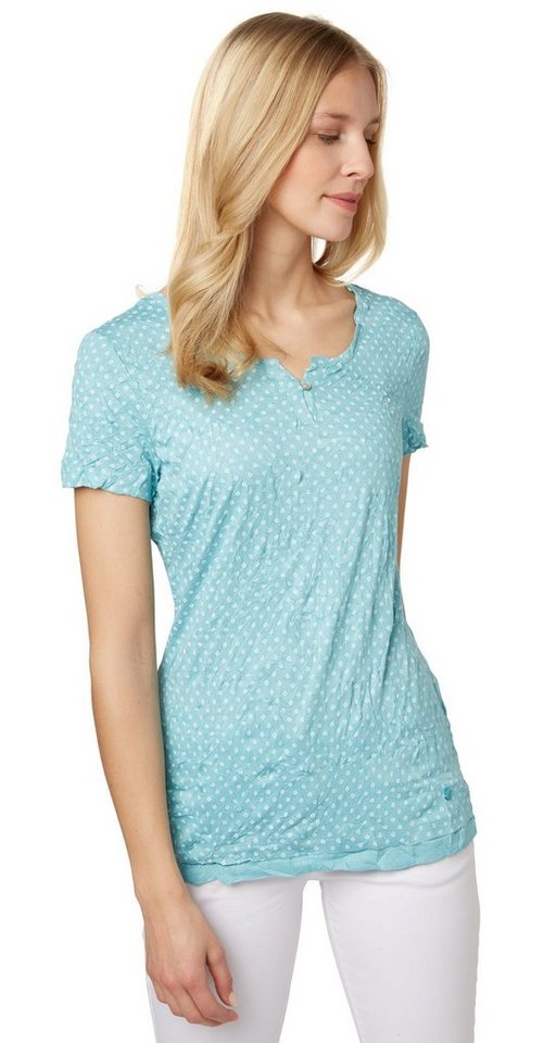 Tom tailor t shirt gemustertes t shirt mit crinkles for Tailored t shirts online