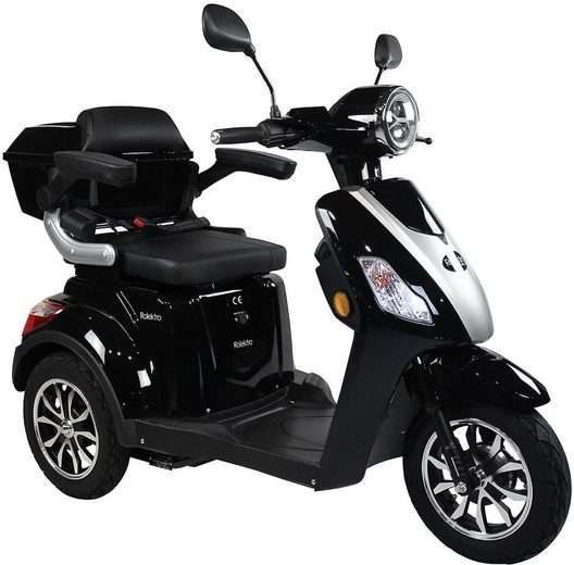 Rolektro Elektromobil »E-Trike 25 V.2, Blei-Gel-Akku«, 1000 W, 25 km/h, (mit Topcase)