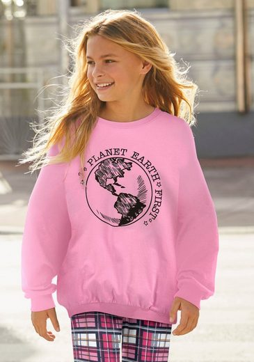 Arizona Sweatshirt »PLANET EARTH FIRST« in extra weiter Form