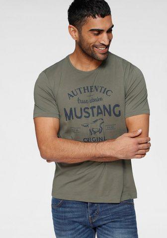 MUSTANG Marškinėliai su großem Logofrontprint