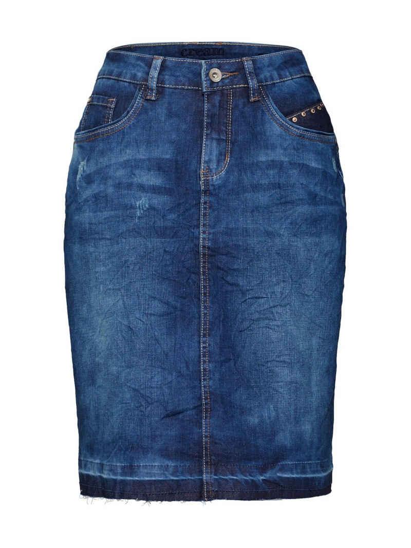 Cream Bleistiftrock »Patched denim Skirt«