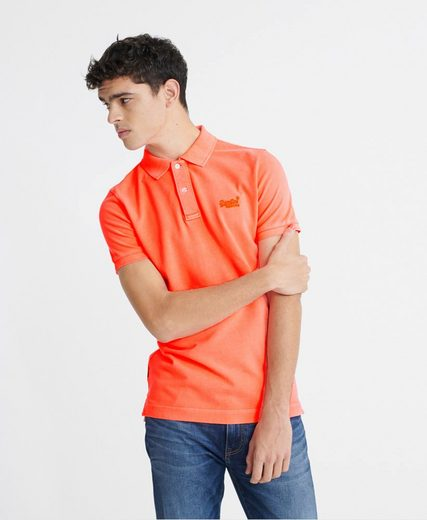 Superdry Poloshirt in gewaschener Optik