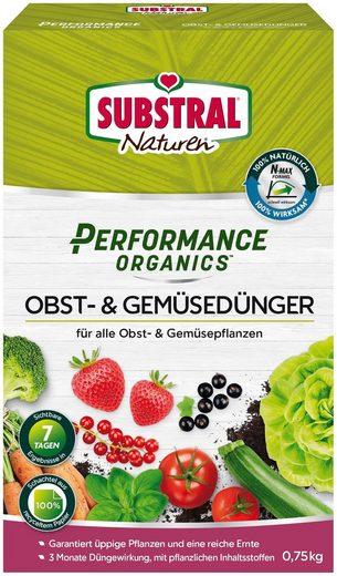 Scotts Substral Pflanzendünger »Naturen Performance Organics Obst- & Gemüsedünger«, 0,75 kg