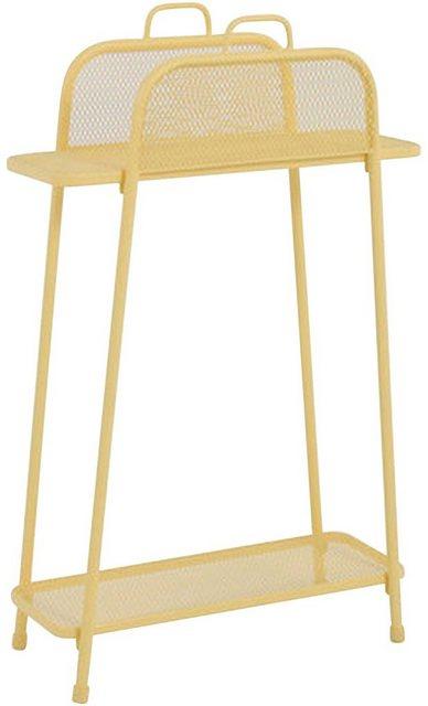 Küchenregale - Garden Pleasure Regal »Shelfo«, Metall, 65,5x27x105,5 cm, gelb  - Onlineshop OTTO