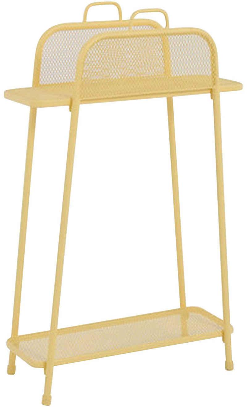 Garden Pleasure Regal »Shelfo«, Metall, 65,5x27x105,5 cm, gelb