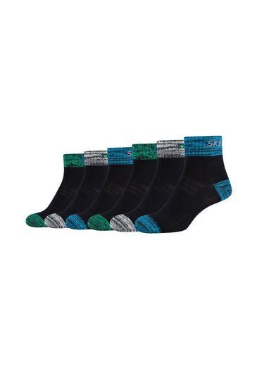 Skechers Socken (6-Paar) mit belüftender Mesh Ventilation