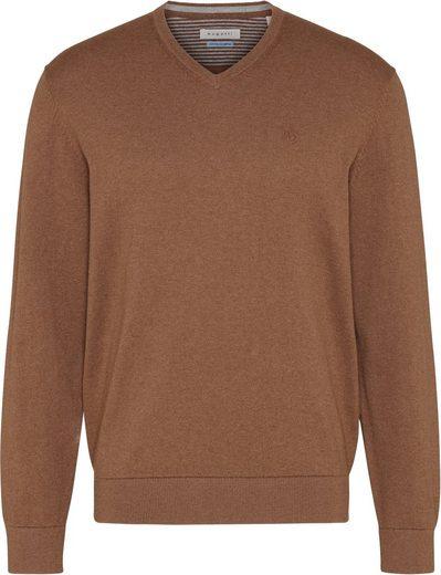 bugatti V-Ausschnitt-Pullover leichte, superweiche Feinstrickqualität
