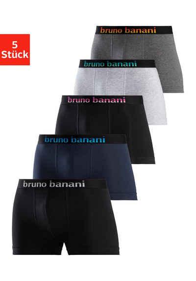 Bruno Banani Boxer (5 Stück) mit Streifen Logo Webbund