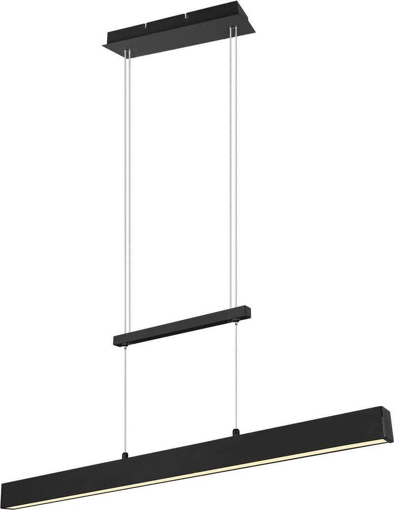 TRIO Leuchten LED Pendelleuchte »PAROS, LED Hängelampe mit Switch Dimmer«, über Wandschalter dimmbar, höhenverstellbar, up and down Beleuchtung, 3000K, Abhängung 150cm