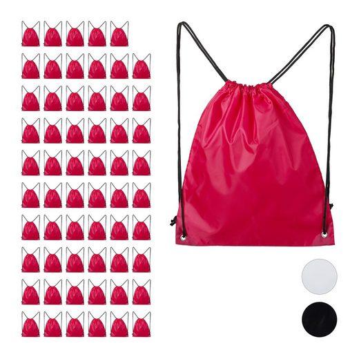 relaxdays Turnbeutel »60 x Turnbeutel pink«