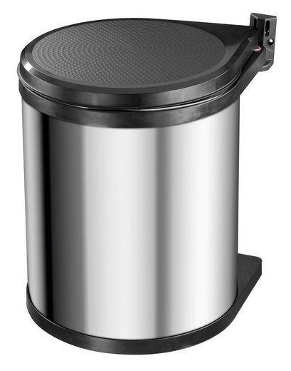 Hailo Einbaumülleimer »Compact-Box M«, edelstahlfarben, Fassungsvermögen ca. 15 Liter