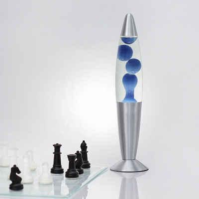 Licht-Erlebnisse Lavalampe »TIMMY«, Retro Lampe Blau klein 36cm hoch Lampe