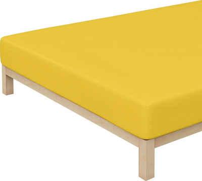 Spannbettlaken »Jersey-Elasthan«, Schlafgut, für faltenfreien Sitz
