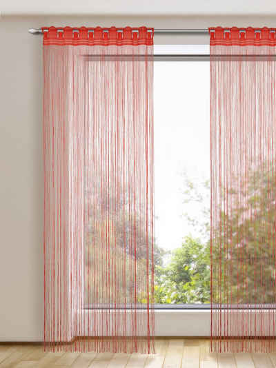 Fadenvorhang »Fadenstore«, WILLKOMMEN ZUHAUSE by ALBANI GROUP, Stangendurchzug (1 Stück), Fadenvorhang