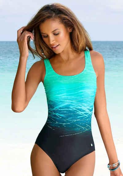LASCANA Badeanzug, mit Batikprint und Shaping-Effekt