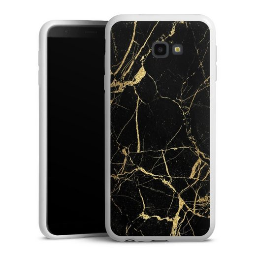 DeinDesign Handyhülle »BlackGoldMarble Look« Samsung Galaxy J4 Plus (2018), Hülle Gold & Kupfer Marmor Muster