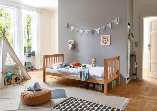Relita Einzelbett »Kick«, mit Rolllattenrost, Buche