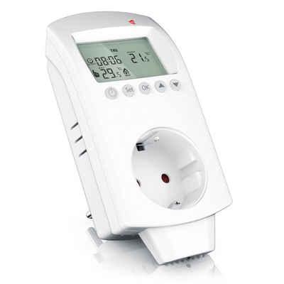 BEARWARE Steckdosen-Thermostat, 1-St., Steckdosen-Thermostat für Heiz- und Klimageräte Individuell programmierbar