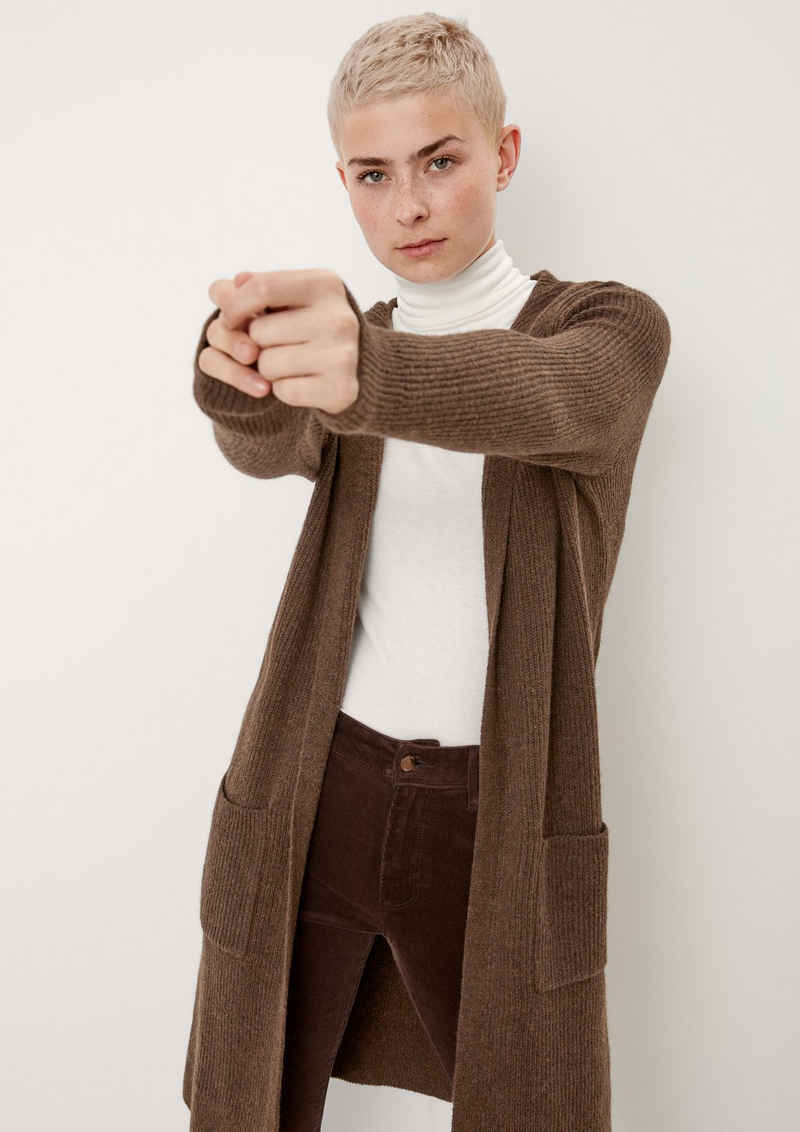 s.Oliver Strickjacke »Long-Cardigan mit Wolle« (1-tlg)