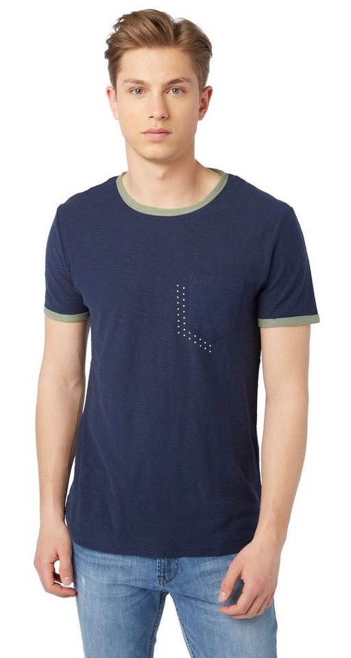 Tom tailor denim t shirt t shirt mit abgesetzten blenden for Tailored t shirts online