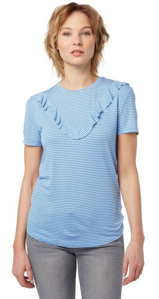 Tom tailor denim t shirt shirt mit r schen detail online for Tailored t shirts online
