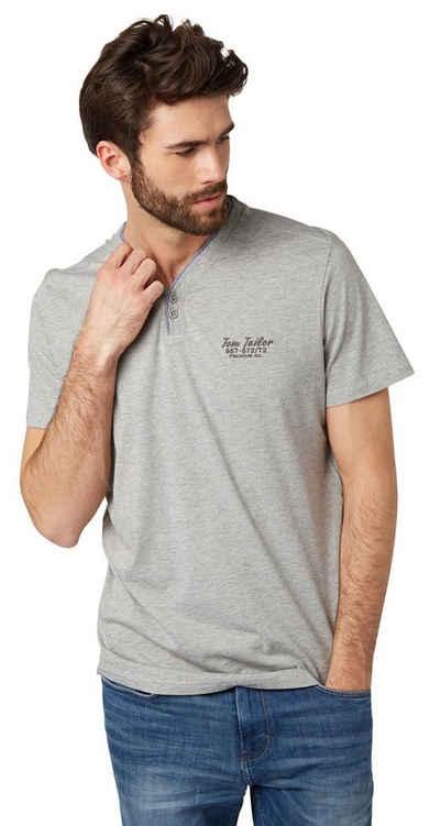 TOM TAILOR T-Shirt »T-Shirt mit Fake-Knopfleiste« Sale Angebote Roggosen