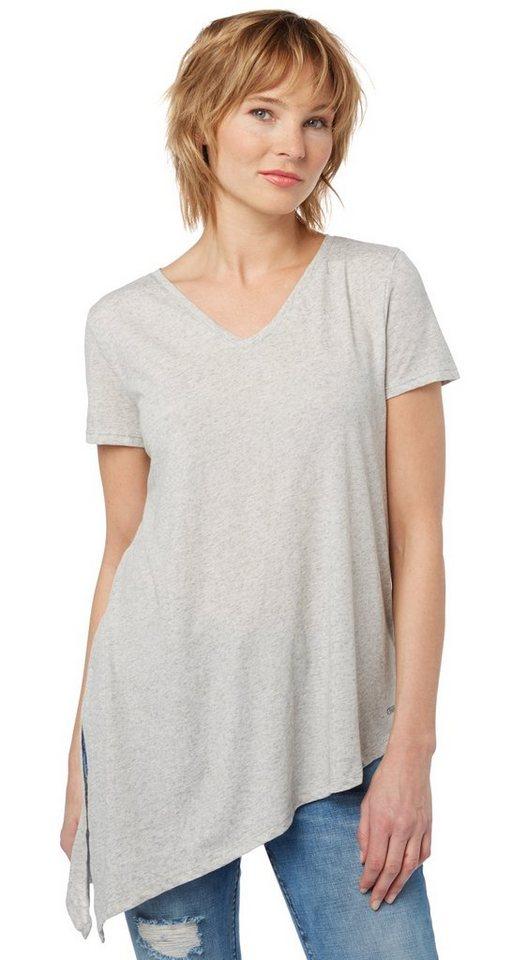 Tom tailor denim t shirt t shirt mit asymmetrischem saum for Tailored t shirts online