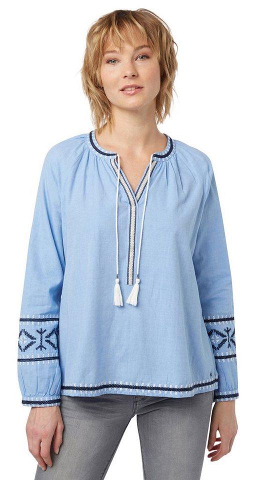 tom tailor denim bluse tunika mit stickerei und quasten online kaufen otto. Black Bedroom Furniture Sets. Home Design Ideas