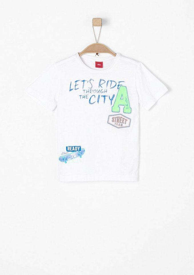 s oliver red label junior t shirt mit artworks f r jungen. Black Bedroom Furniture Sets. Home Design Ideas