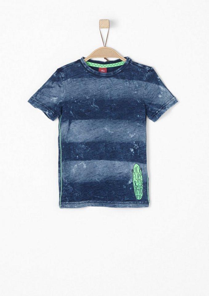 s oliver red label junior garment washed shirt f r jungen. Black Bedroom Furniture Sets. Home Design Ideas