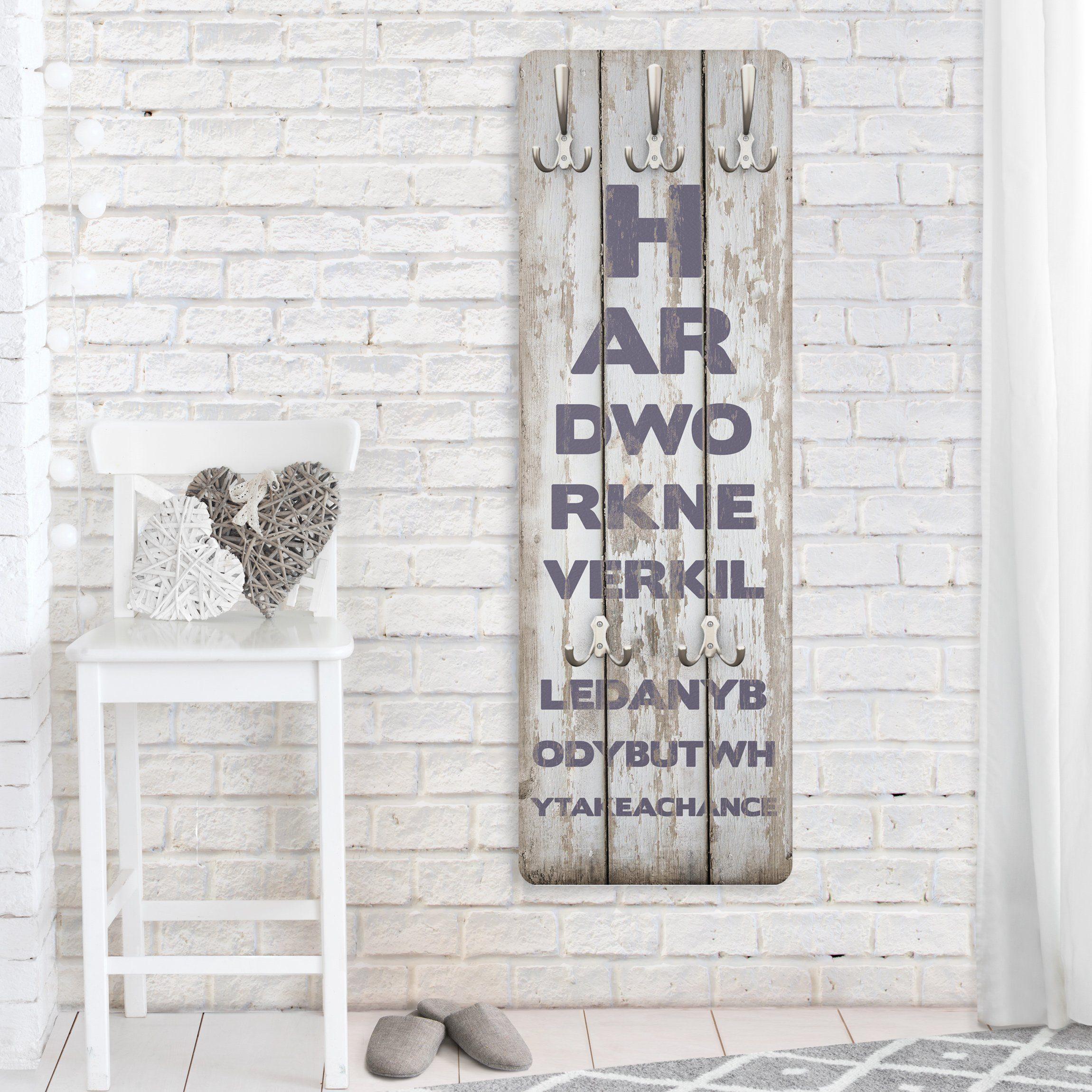 Bilderwelten Garderobe Vintage 139x46x2cm »No.RS180 Hard Work«