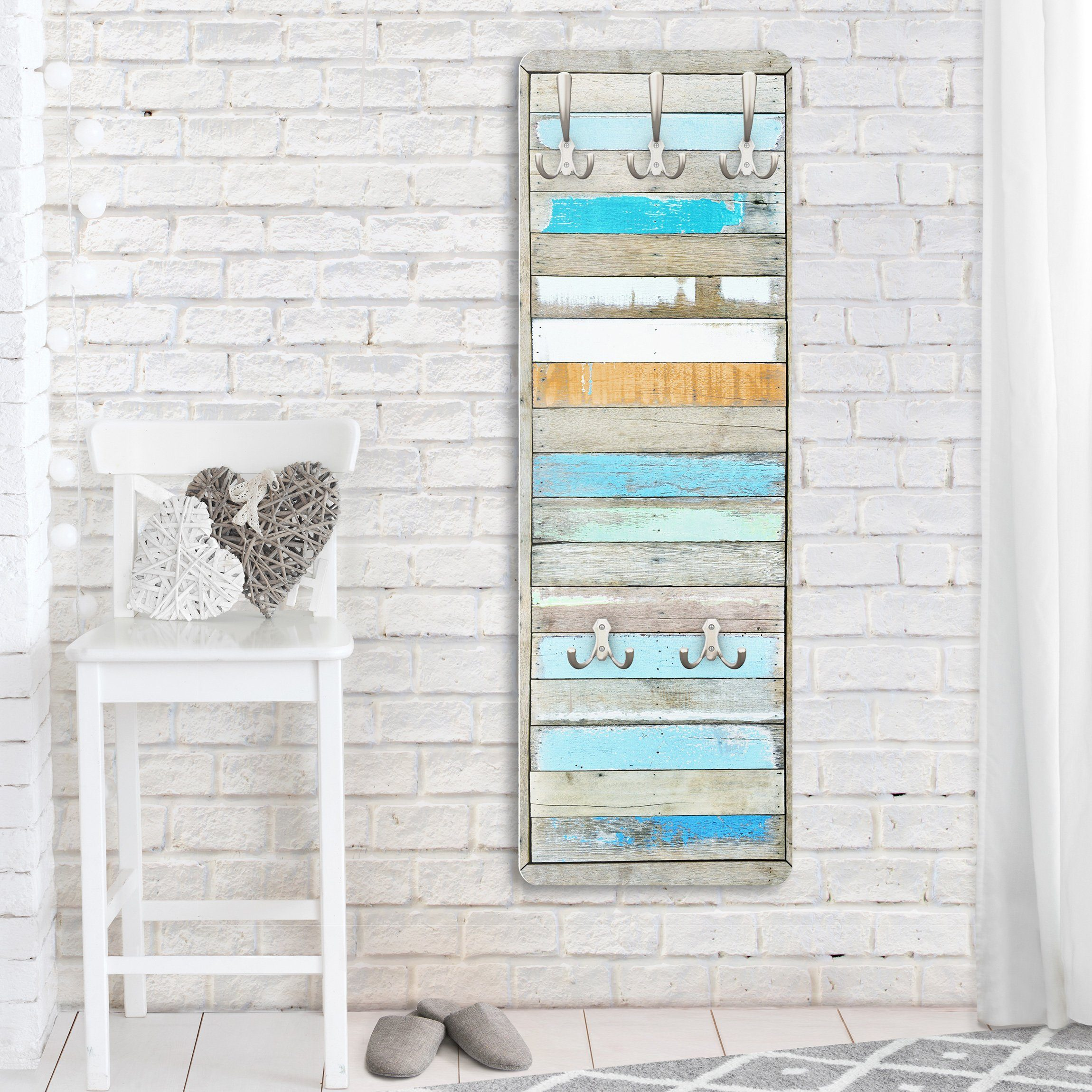 Bilderwelten Garderobe Vintage 139x46x2cm »Shelves of the Sea«