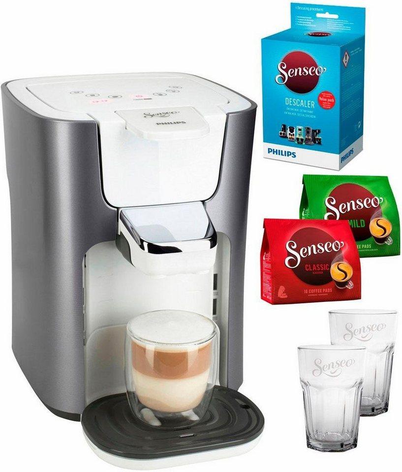 Kaffeepadmaschinen  Senseo Kaffeepadmaschine SENSEO® LatteDuo HD7857/20, inkl. Gratis ...