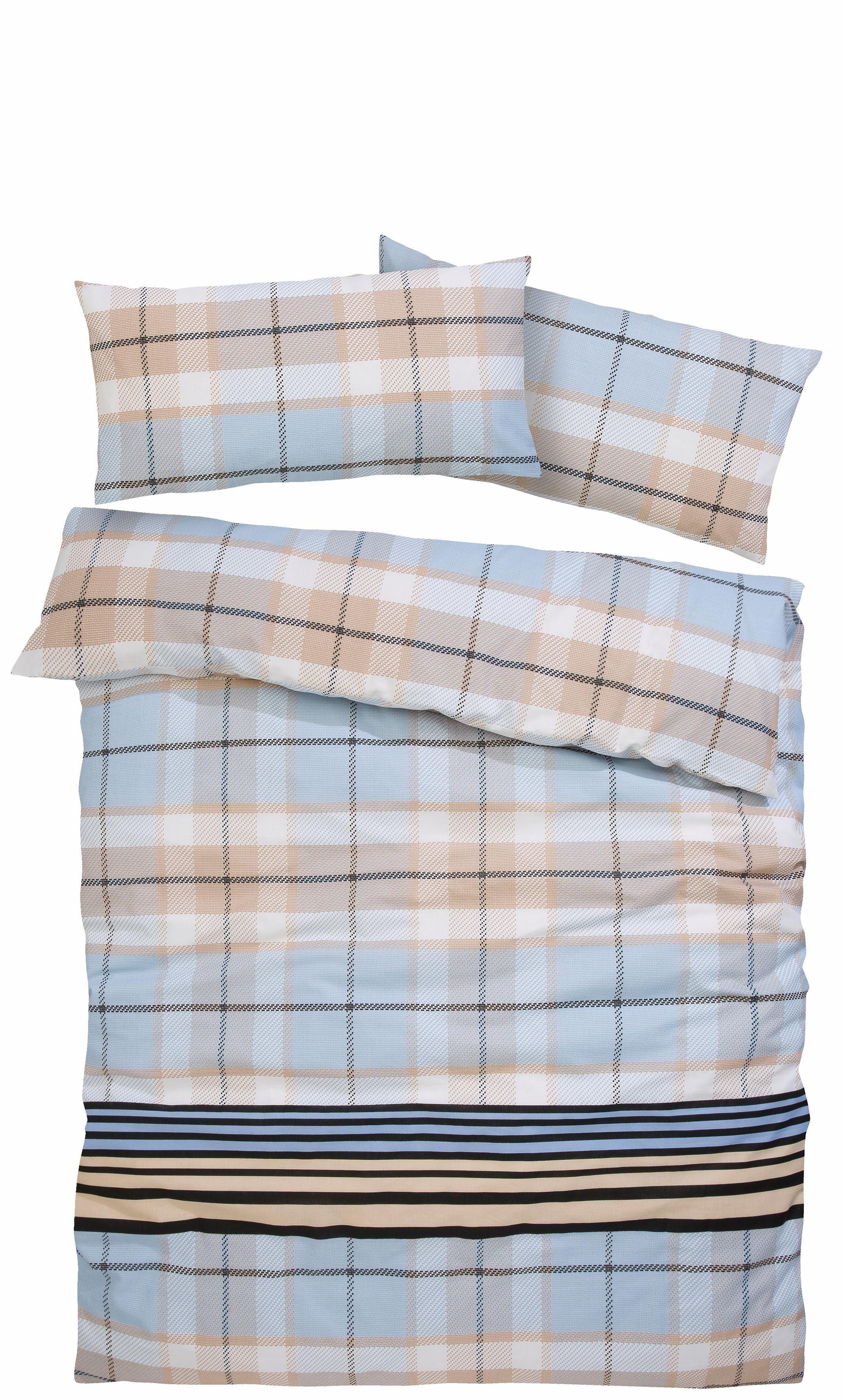 Bettwäsche »Antar«, my home, im strukturierten Karo-Design
