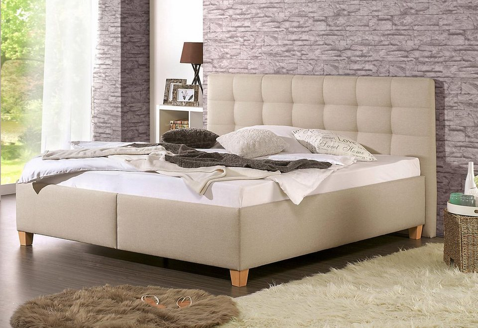 home affaire polsterbett timmy mit oder ohne matratze in 2 ausf hrungen h rtegrad 2 oder 3. Black Bedroom Furniture Sets. Home Design Ideas